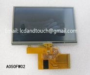 Original A050FW02 LCD display with touch screen for GPS,A050FW02 V2 V.2